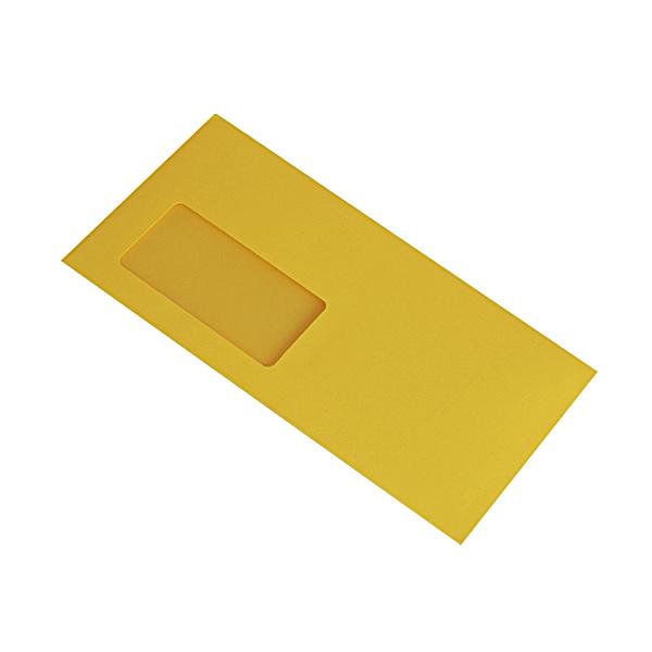 Haftklebe briefumschl ge c5 6 229x114mm gelb mit fenster for Fenster 0 5 ug