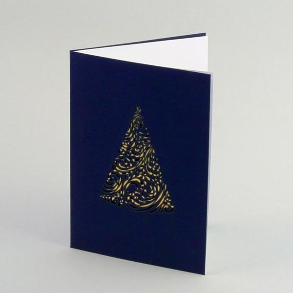 Einlegeblätter Für Weihnachtskarten.Laserschnitt Weihnachtskarten Mit Einlegeblatt