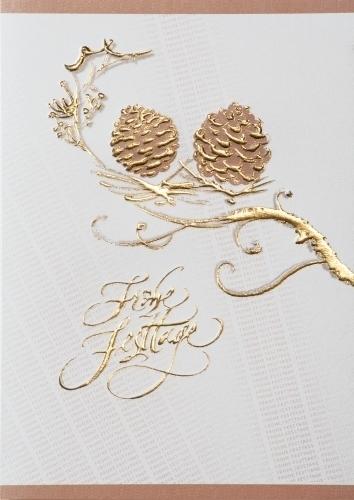 Einlegeblätter Für Weihnachtskarten.Weihnachtskarten B6 Kiefernzapfen Mit Einlegeblatt