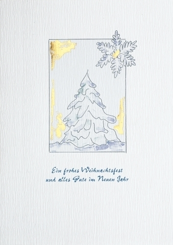 Einlegeblätter Für Weihnachtskarten.Weihnachtskarten B6 Verschneite Tanne Mit Einlegeblatt