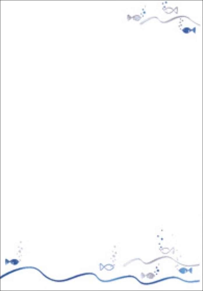 """designblätter din a4 kommunionkonfirmation """"shiny fish"""""""