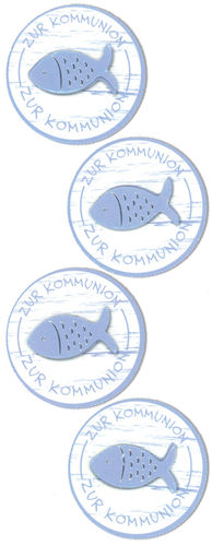 Sticker Fischbutton zur Kommunion