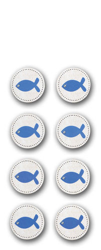 "Sticker Kommunion/Konfirmation""Button Fisch"""