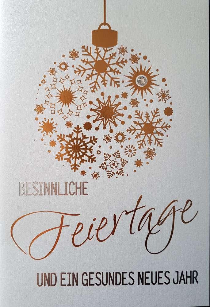 Einlegeblätter Für Weihnachtskarten.Weihnachtskarte Swarovski Mit Einlegeblatt