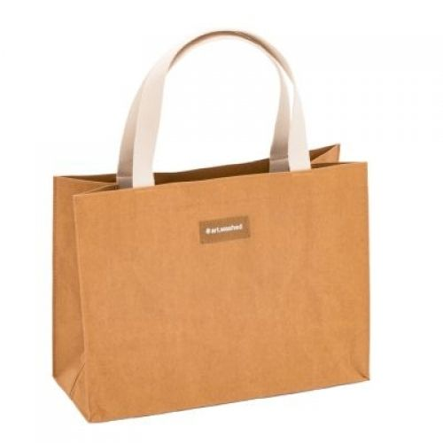 WashPaper Shopping bag M kraft - ARTOZ kraftpapier