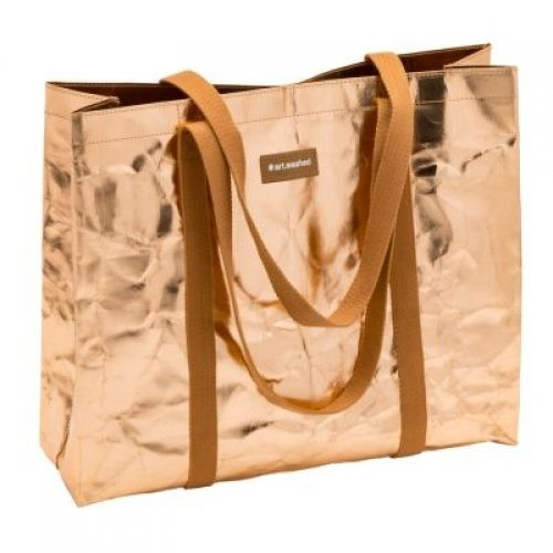 WashPaper Shopping bag L rosegold - ARTOZ kraftpapier