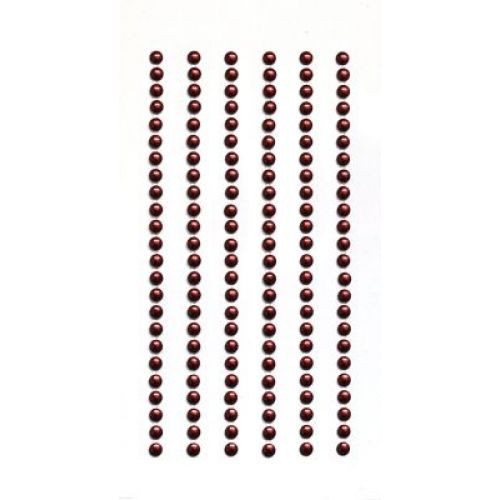 Strass-Sticker rund 3mm, rot