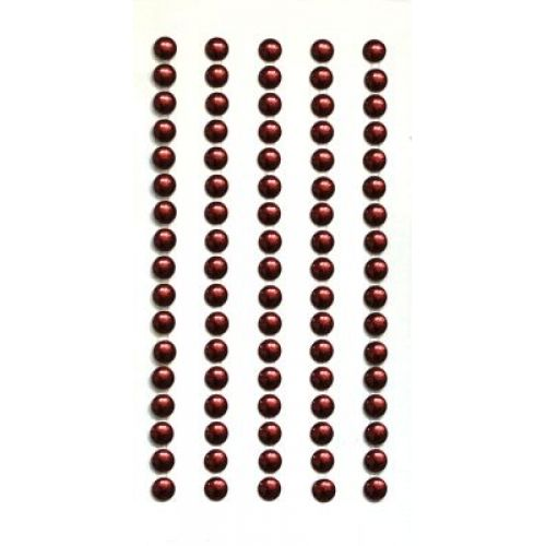 Strass-Sticker rund 5mm, rot